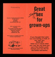view Great safer sex for grown-ups : if you thought that safer sex was boring, or dull, or not 'real' sex, read on