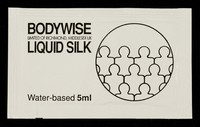 view Bodywise Limited of Richmond, Middlesex  UK Liquid Silk : water-based 5ml.