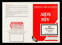 view AIDS and HIV : HIV antibody : to test or not to test?