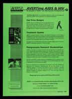 view AVERTing AIDS and HIV : the newsletter of AVERT - the AIDS Education & Research Trust. 2, August 1997 / AVERT.