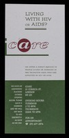 view Living with HIV or AIDS? / iCARE.