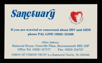 view Sanctuary : if you are worried or concerned about HIV and AIDS phone PAL LINE (0202) 311166