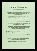 view Black HIV Forum Coventry & Warwickshire.