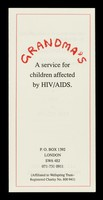 view Grandma's : a service for children affected by HIV/AIDS : P.O. Box 1392, London SW6 4EJ ...