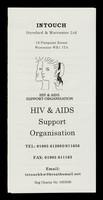 view InTouch Hereford & Worcester Ltd : 14 Pierpoint Street, Worcester WR1 1TA : HIV & AIDS Support Organisation.