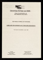 view AIDS and the church as a healing community : the Geneva consultation: June 1986
