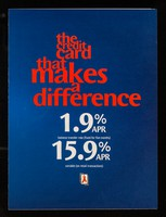 view The credit card that makes a difference : 1.9% APR balance transfer rate (fixed for 6 months)
