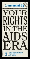 view Your rights in the AIDS era. Immunity.