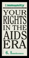 view Your rights in the AIDS era. 6, Homelessness