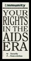 view Your rights in the AIDS era. 7, Security from eviction