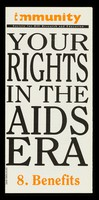 view Your rights in the AIDS era. 8, Benefits
