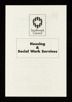 view Housing & social work services : housing services for people with HIV / Southwark Council.