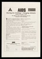 view AIDS : sharing the challenge - changing attitudes : Monday, December 2 1991 : The Officer's Mess, Imperial War Museum, Duxford, near Cambridge