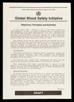 view Global blood safety initiative : objectives, principles and activities / World Health Organization Global Programme on AIDS.