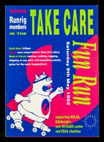 view Join Runrig members in the Take Care Fun Run : Saturday 9th May 1992 : supporting SOLAS, Edinburgh's new HIV/AIDS centre and ESCA charities.