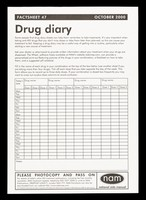 view Drug diary : factsheet 47 October 2000 / NAM, National AIDS Manual.