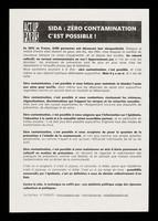 view SIDA : zéro contamination, c'est possible! / ACT UP Paris.