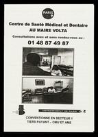 view Centre de Santé Médical et Dentaire au Maire Volta : consultations avec et sans rendez-vous au: 01 48 87 49 87 / Centre Médical de la Ville de Paris, La Mairie du 3e, Département de Paris.