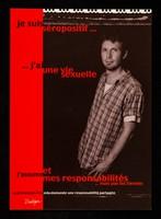 view Je suis séropositif... : j'ai une vie sexuelle et j'assume mes responsibilités ... mais pas les tiennes : la prévention VIH/sida demande une responsibilité partagé / Dialogai, case postale 69, 1211 Genève.