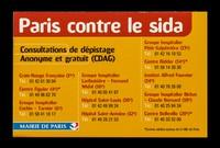 view Paris contre le sida : consultation de dépistage anonyme et gratuite (CDAG) / Mairie de Paris.
