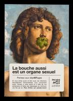view La bouche aussi est un organe sexuel : pensez aux dépistages / Ministère chargé de la Santé, Sida Info Service, INPES.