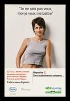 """view """"Je ne sais pas vous, moi je veux me battre"""" : Hépatite C, des traitements existent... / Roche Pharma, SOS Hépatites."""