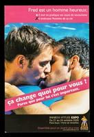 view Fred est un homme heureux : Il met en pratique ses cours de secourisme : il embrasse l'homme de sa vie : ça change quoi pour vous? Parce que pour lui c'est important