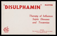 view 'Disulphamin' : therapy of influenza septic diseases and toxaemias.