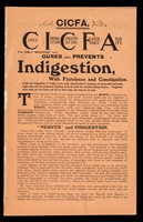 view CICFA : cures indigestion constipation flatulence acidity.