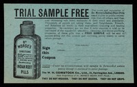view Trial sample free : the name and reputation of Dr. Morse's Indian Root Pills stand higher in public estimation than all others ...