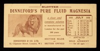 view Dinneford's Pure Fluid Magnesia : a clear and complete solution as manufactured in London for the past 100 years.