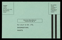 view Business reply service Licence No. BZ. 31 : Eli Lilly & Co. Ltd., Basingstoke, Hants.
