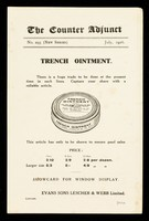 view The Counter Adjunct : No. 295 (new series) July, 1916 : Trench Ointment.