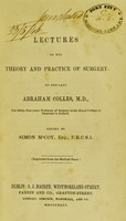 view Lectures on the theory and practice of surgery
