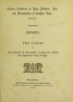 view Reports by the juries on the subjects in the thirty classes into which the exhibition was divided.