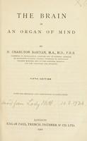 view The brain as an organ of mind / by H. Charlton Bastian.
