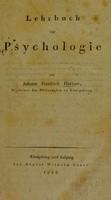 view Lehrbuch zur Psychologie / von Johann Friedrich Herbart.