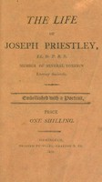 view The life of Joseph Priestly ... / [John Corry].