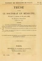 view Thèse pour le doctorat en médecine : présentée et soutenue le 16 juillet 1842, / par Étienne Drouhin, de Bard (Côte-d'Or). I. Des causes et du traitement de l'hystérie. ... [etc].