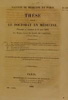 view Thèse pour le doctorat en médecine : présentée et soutenue le 8 août 1842, / par Michel-Louis Le Blanc de Varennes, de Nevers ... I. Des analogies et des différences entre le pancréas et les glandes salivaires. ... [etc].