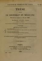 view Thèse pour le doctorat en médecine : présentée et soutenue le 21 août 1839, / par Honoré Aubanel, d'Auriol (Bouches-du-Rhône) ... Essai sur les hallucinations.