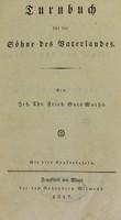 view Turnbuch für die Söhne des Vaterlandes / von Chr. Fried. Guts Muths. Mit vier Kupfertafeln.