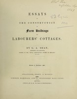 view Essays on the construction of farm buildings and labourers' cottages
