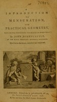 view An introduction to mensuration and practical geometry / [John Bonnycastle].