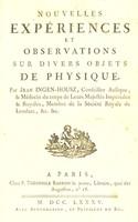 view Nouvelles expériences et observations sur divers objets de physique