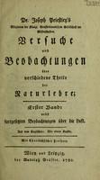 view Dr. Joseph Priestley's Versuche und Beobachtungen über verschiedene Theile der Naturlehre ... nebst fortgesetzten Beobachtungen über die Luft / Aus dem Englischen.