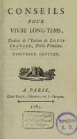 view Conseils pour vivre long-tems / [Luigi Cornaro].