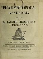 view Pharmacopoea generalis