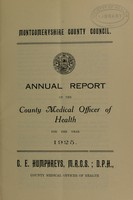 view [Report 1925] / Medical Officer of Health, Montgomeryshire County Council.