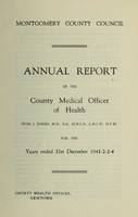view [Report 1941-1944] / Medical Officer of Health, Montgomeryshire County Council.